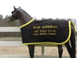 WAR ADMIRAL TB embroidered blanket Breyer thoroughbred race horse
