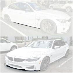 Carbon Fiber Front Bumper Lip Splitter And Side Skirts Pair For 15-18 Bmw F80 M3