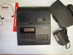 Sony Bm850 Microcassette Transcriber With Foot Pedal, Ac Adapter And Headset