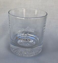 Canadian Club Whisky Glass 10 Oz Rock With Starburst Bottom Marked Spain