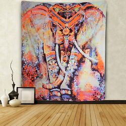 Indian Mandala Tapestry Elephant Wall Hanging Bohemian Tapestry Home Decor US