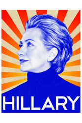 Hillary Clinton Campaign Art Wall Indoor Room Outdoor Poster POSTER 24x36