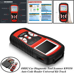 OBD2 TFT Screen Car Diagnostic Tool Scanner KW850 Auto Code Reader Universal Kit