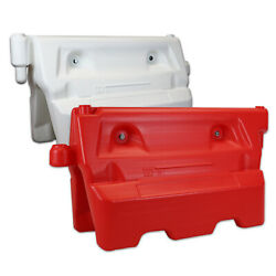 Water Filled Traffic Barrier - Plastic Road Street Safety Barrier Red/white