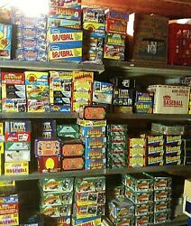 600 Old Baseball Cards In Unopened Packs + Ten Extra Hall Of Famers 80s/90s