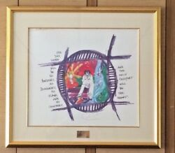 Carlos Santana Artwork Signed And Numbered, Limited Edition Lithograph, 1999