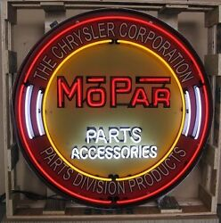 Giant Mopar Parts 3 Ft. 36 Round Neon Sign 9mprcr W/ Free Shipping