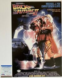Michael J Fox Signed Back To The Future 2 12x18 Poster Photo Exact Proof Psa/dna