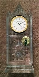 Waterford Crystal London Large Centerpiece Crystal Clear Clock Brand New