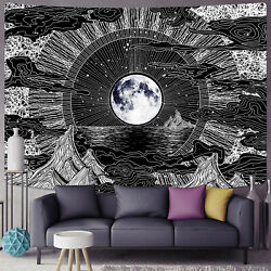 Abstract Cloud Moon Hippie Tapestry Mandala Wall Hanging Psychedlic Tapestry