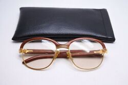 Cartier Sunglasses Glasses Wood 135b 56 □ 19 Extremely rare Discontinued
