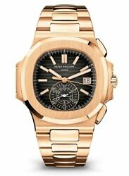 Patek Philippe NEW Nautilus Chronograph 18k Rose Gold Watch BoxPapers 59801R