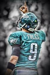 Nick Foles Eagles Philly Art Wall Indoor Room Outdoor Poster POSTER 24x36