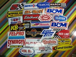 Vtg 1980s 1990s Auto Racing Sticker - Hill Valley Bandm Justice Synergyn Weiand
