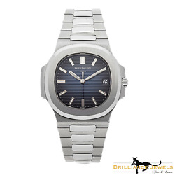 PATEK PHILIPPE Nautilus 57111A-010 Blue Dial Stainless Box & Papers (P-38)