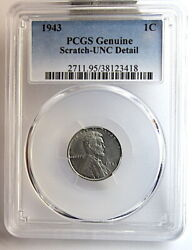 1943 Pcgs Lincoln Wheat Cent 1c