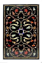 2and039x4and039 Marble Dining Table Top Inlay Carnelian Gem Stone Mosaic Furniture Decor