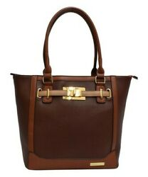 Turnlock Tote Adrienne Vittadini brown new with tags great gift!