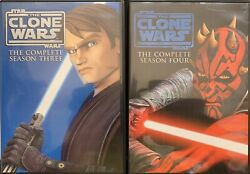 Star Wars The Clone Wars Complete Seasons 3 And 4 Dvd Free Shipping