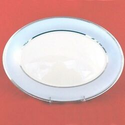 Blue Frost Lenox Platter 13 Long Ivory Bone China New Never Used Made In Usa