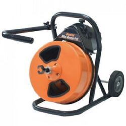 New Mini-rooter Pro Drain/sewer Cleaning Machine W/75and039 X 1/2 Cable And Cutters