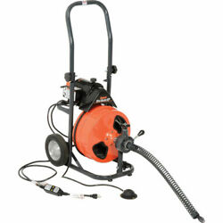 New Mini-rooter Xp Drain/sewer Cleaning Machine W/ 75and039 X 3/8 Cable And Cutters