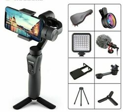 Gimbal Stabilizer Handheld W Focus Pull Zoom Action Camera For Iphone Samsung