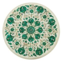 18x18 Marble Side Coffee Table Top Malachite Mosaic Decorative New Year Gifts
