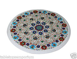 18x18 Marble Coffee Table Top Marquetry Mosaic Decor Pietra Dura Decor Gifts