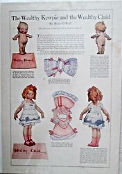 Kewpie Figures Cutoutand039s Womens Home Companion 1913 Lot Of 7 Different Excellent