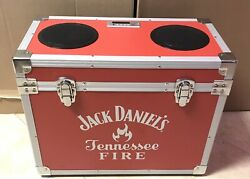 Rare / Jack Daniels Tennessee Fire Cooler Stereo / Bt / Fm And Direct Plug / Red