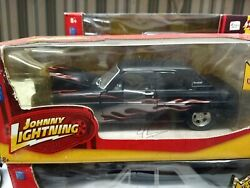 Johnny Lightning Diecast Ford Thunderbolt With Flames In Box