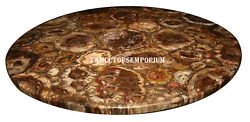 30 Marble Coffee Table Top Tiger Eye Stone Semi Precious New Year Decor Gifts