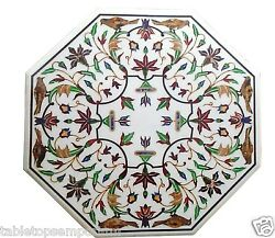 30x30 Marble Coffee Table Top Inlay Mosaic Marquetry Furniture Decorative