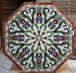 30 Marble Center Table Top Handmade Marquetry Design Inlay Home Decor Gifts