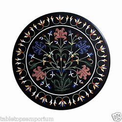 30x30 Marble Coffee Table Top Inlay Marquetry Mosaic Hallway Christmas Decor