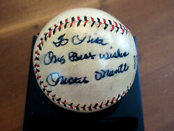 Mickey Mantle Best Wishes Yankees Hof Rookie Signed Auto 1950and039s Baseball Psa Jsa