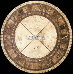 32and039and039 Marble Dining Table Top Pietra Dura Gemtones Inlay Furniture Decorative