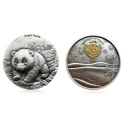 2020 Palau Chinese Panda 2oz Silver Coin With Genuine Certificate And Box