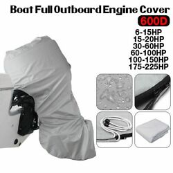 Outboard Engine Cover Waterproof Boat Motor Protector 600d 6-225hp 144180cm