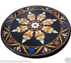 36x36 Marble Top Dining Table Inlay Mosaic Hallway Christmas Home Decor Gift
