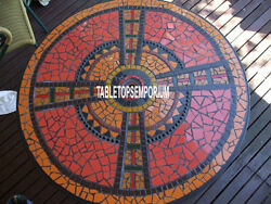 36 Black Marble Dining Table Top Mosaic Inlay Living Room Furniture Decor Gifts