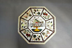36 White Marble Table Top Inlay Mosaic Gemstones Christmas Home Decorative Gift