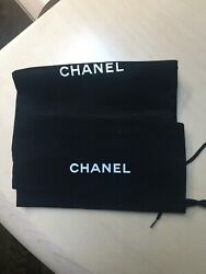 "Pair Of CHANEL Designer Drawstring Dust Bags Covers  ~11.5""×7"" NEW"