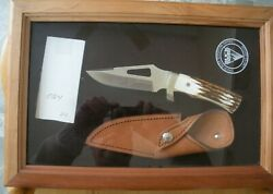 Rare Vintage Buck Signature Stag Model 400 Bg-42 Knife Never Used In Box