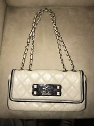 White Chanel Bag Lambskin Authentic $1100.00