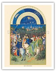 May Book Of Hours - Limbourg Brothers Vintage Illuminated Manuscript Art Print