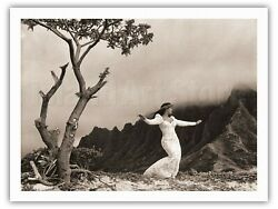 Hula Auana Modern Hawaiian Dancer - Alan Houghton Vintage Photograph Art Print