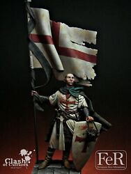 Templar Standard Bearer Acre Painted Toy Soldier Pre-sale   Museum Quality