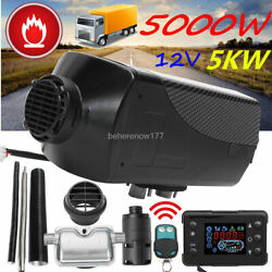 5kw 12v Air Diesel Heater Lcd Monitor Thermostat For Truck Boat Car Trailer Bus